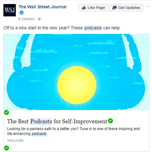podcasts facebook posts