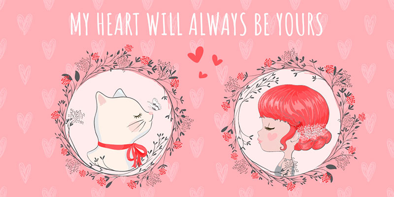 free Blog image template for valentine's day
