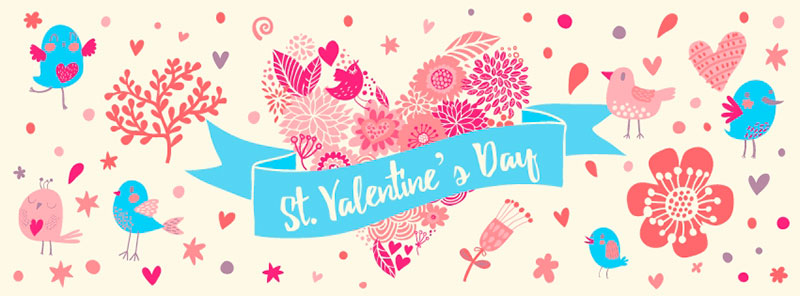 free valentine's day facebook cover illustration