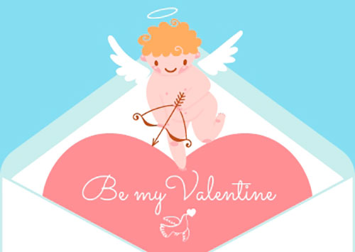 free Valentine's Day postcard templates for valentine's day