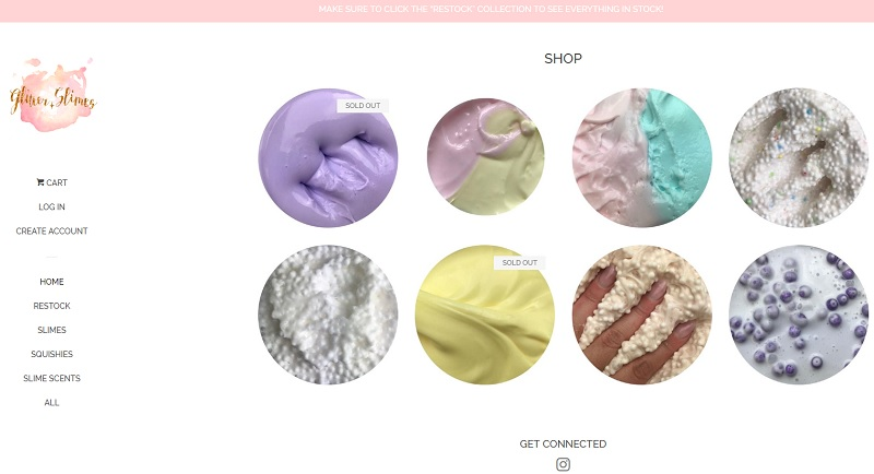 online shop to sell slime