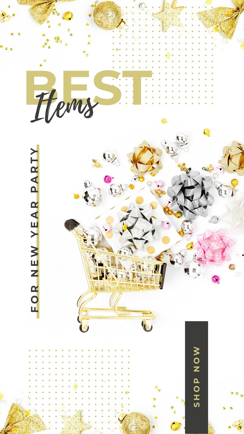 new year shopping instagram story template