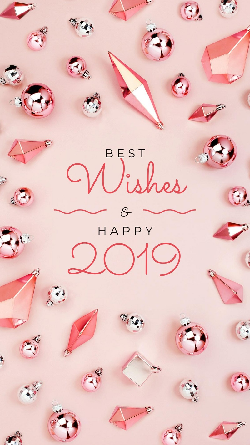 happy 2019 pink instgaram story template for free