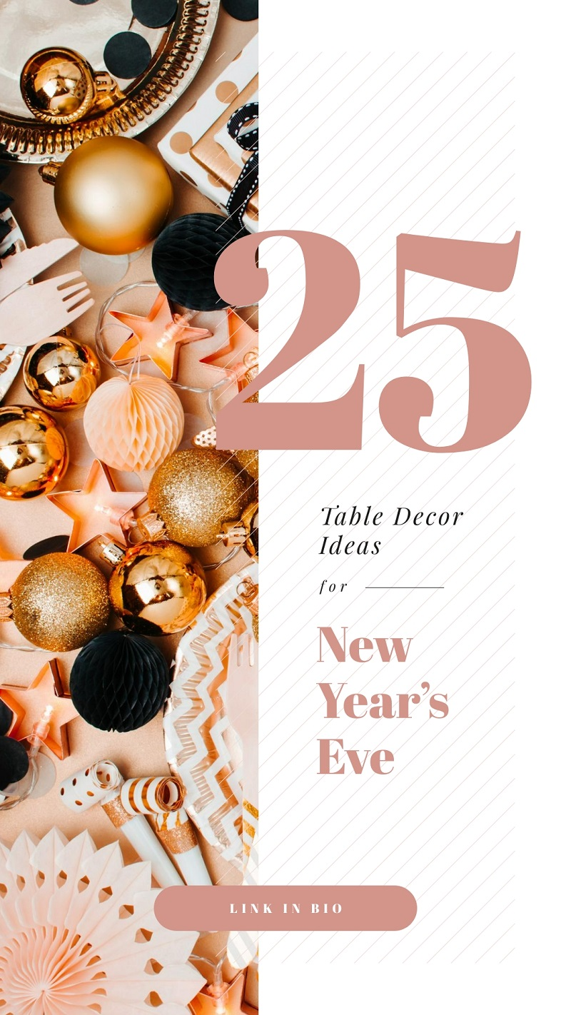 new year's eve template for instagram stories decor