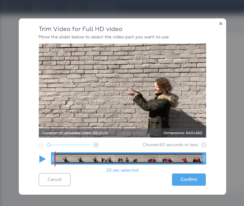 Learning to Upload Video to Crello