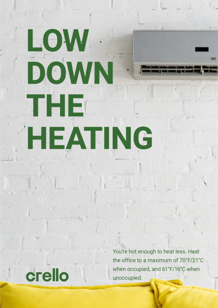 lower down the heating
