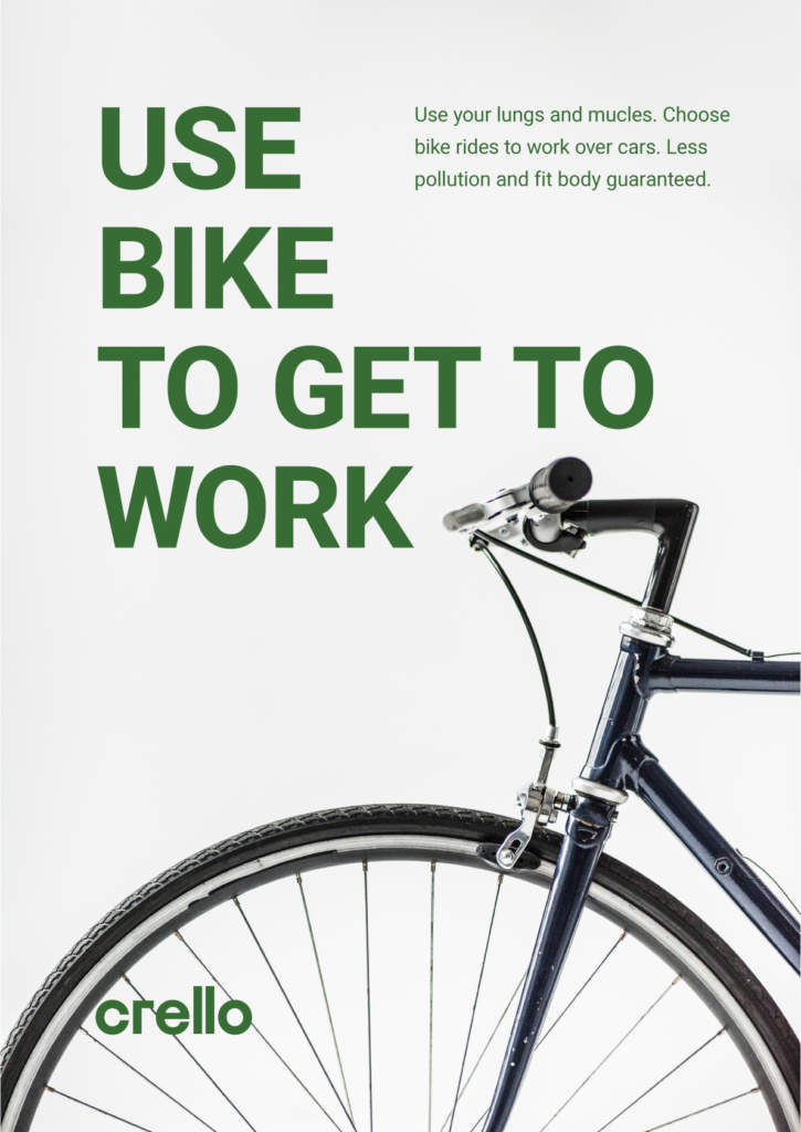 Use bike to get to work