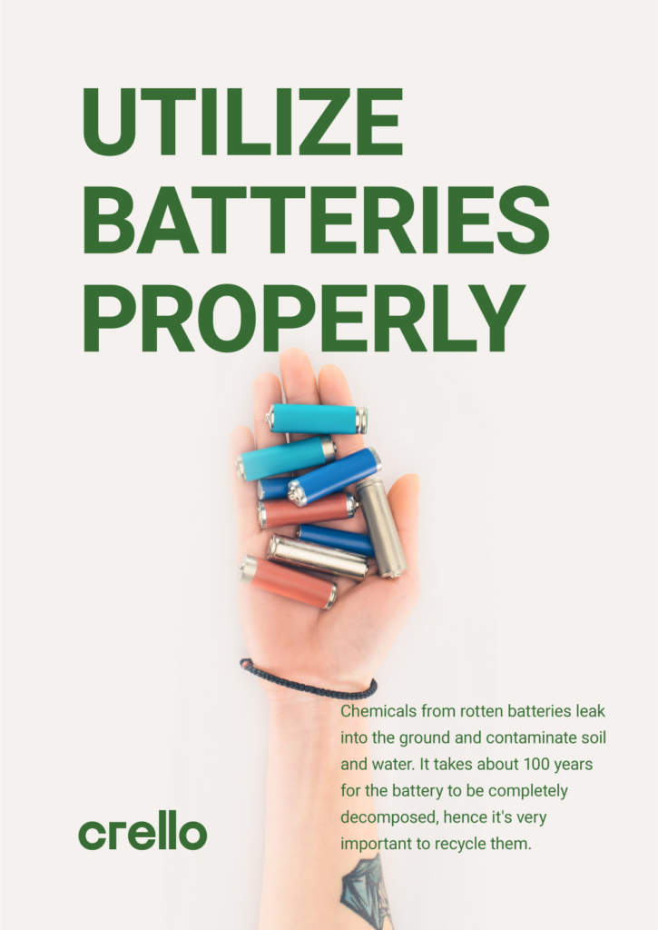 Utilize batteries