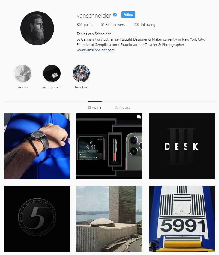Tobias van Schneider Instagram