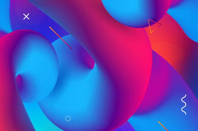 Minimal shapes & color gradients by Depositphotos