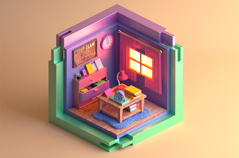 Isometric projections by https://dribbble.com/lj413310822