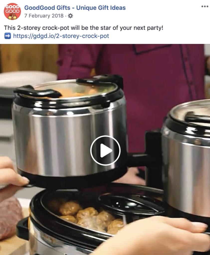 GoodGood Gifts 2 storey crock pot
