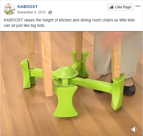KABOOST Turn any chair into a highchair