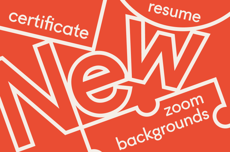 Zoom Background, Resume, Certificate