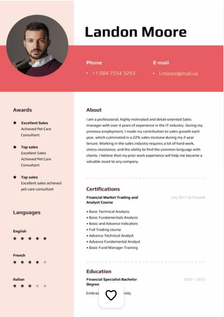 creative resume tips and ideas