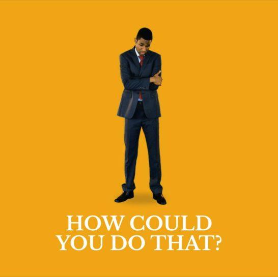 Discouraged african-american businessman