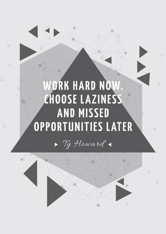 Citation about a hard work