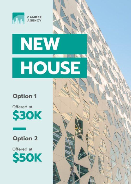 Real Estate Offer Glass Building Facade