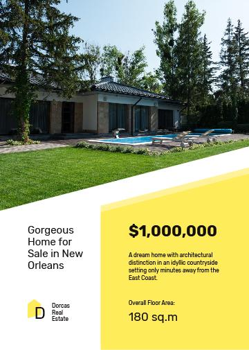 Real Estate Offer Residential Modern House with Pool