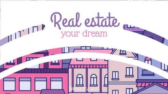 Real Estate Ad with Modern Buildings