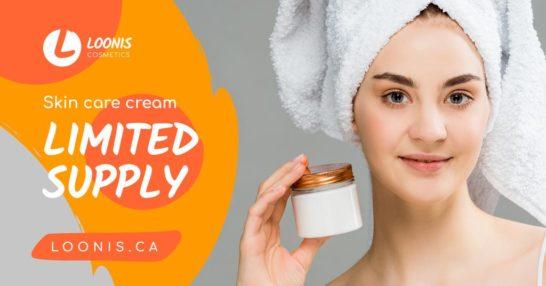 Cosmetics Sale Woman Holding Cream