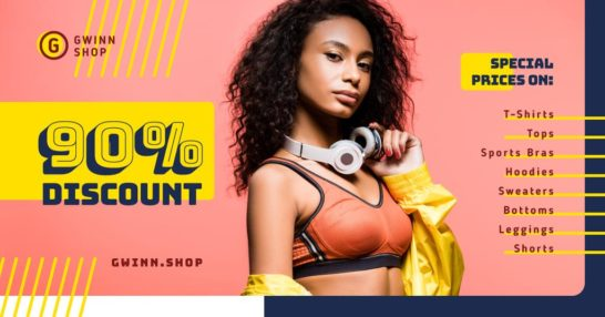 Fashion Ad Woman in Top and Headphones