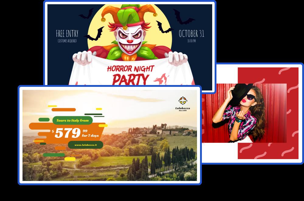 Crello Facebook reklam şablonları kütüphanesi