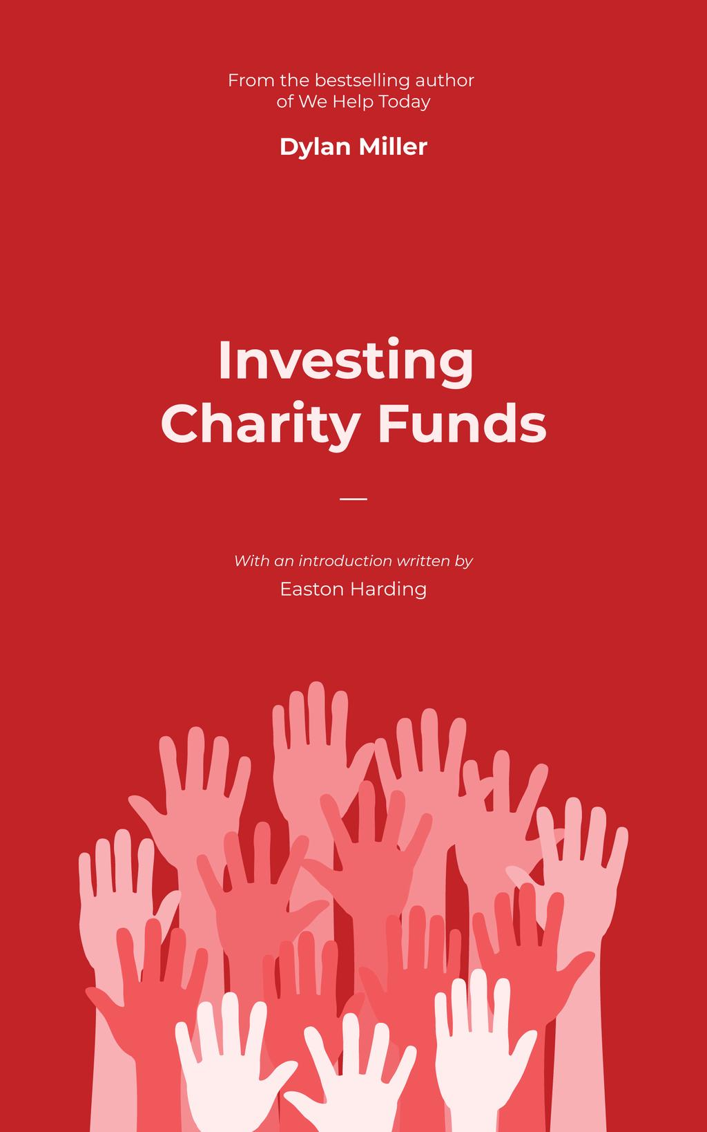 Charity Fund Hands Raised in the Air in Red