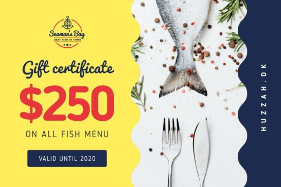 Restaurant Offer with Fish and Spices