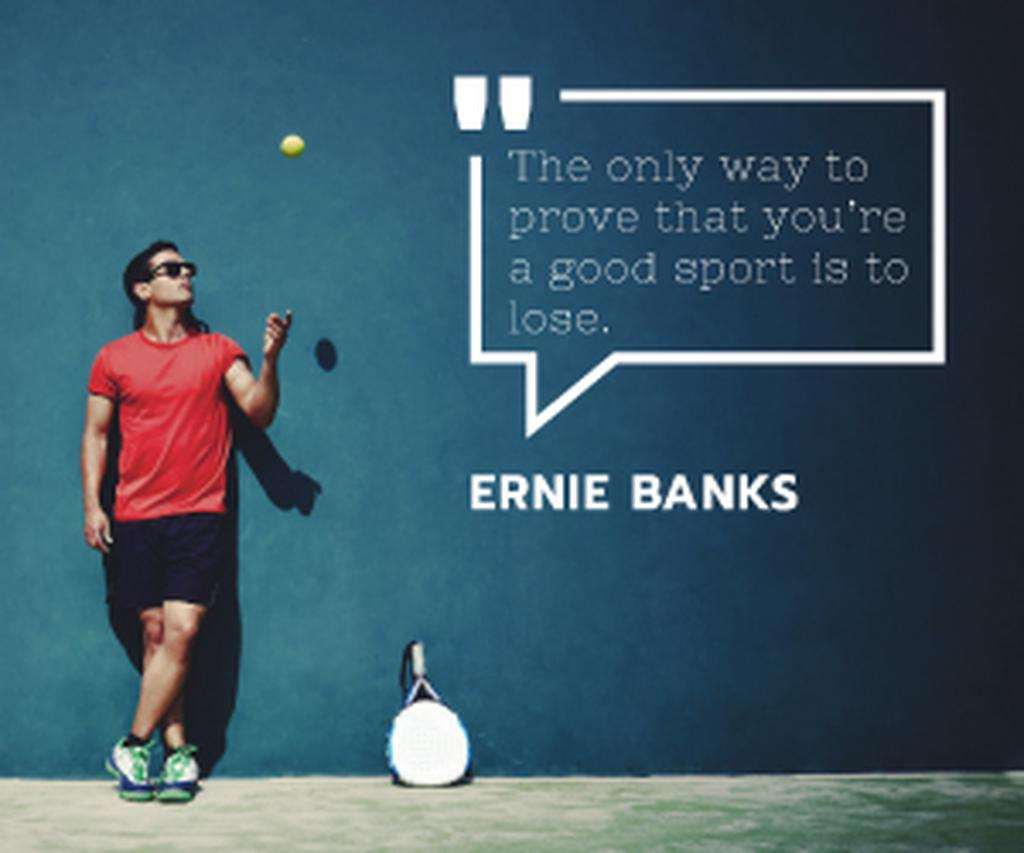 Tennis Club Ad Player with Ball