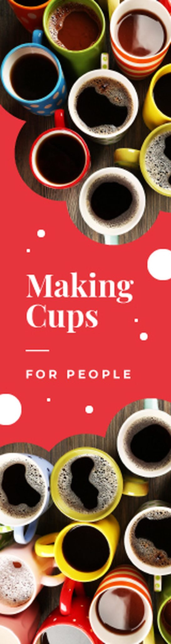 Cafe Promotion Cups with Hot Coffee