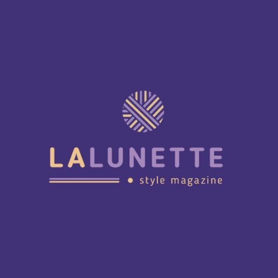 Style Magazine Ad with Geometric Lines Icon