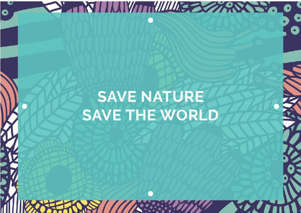 Citation about saving the nature