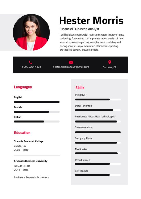 Business Analyst professional skills and experience