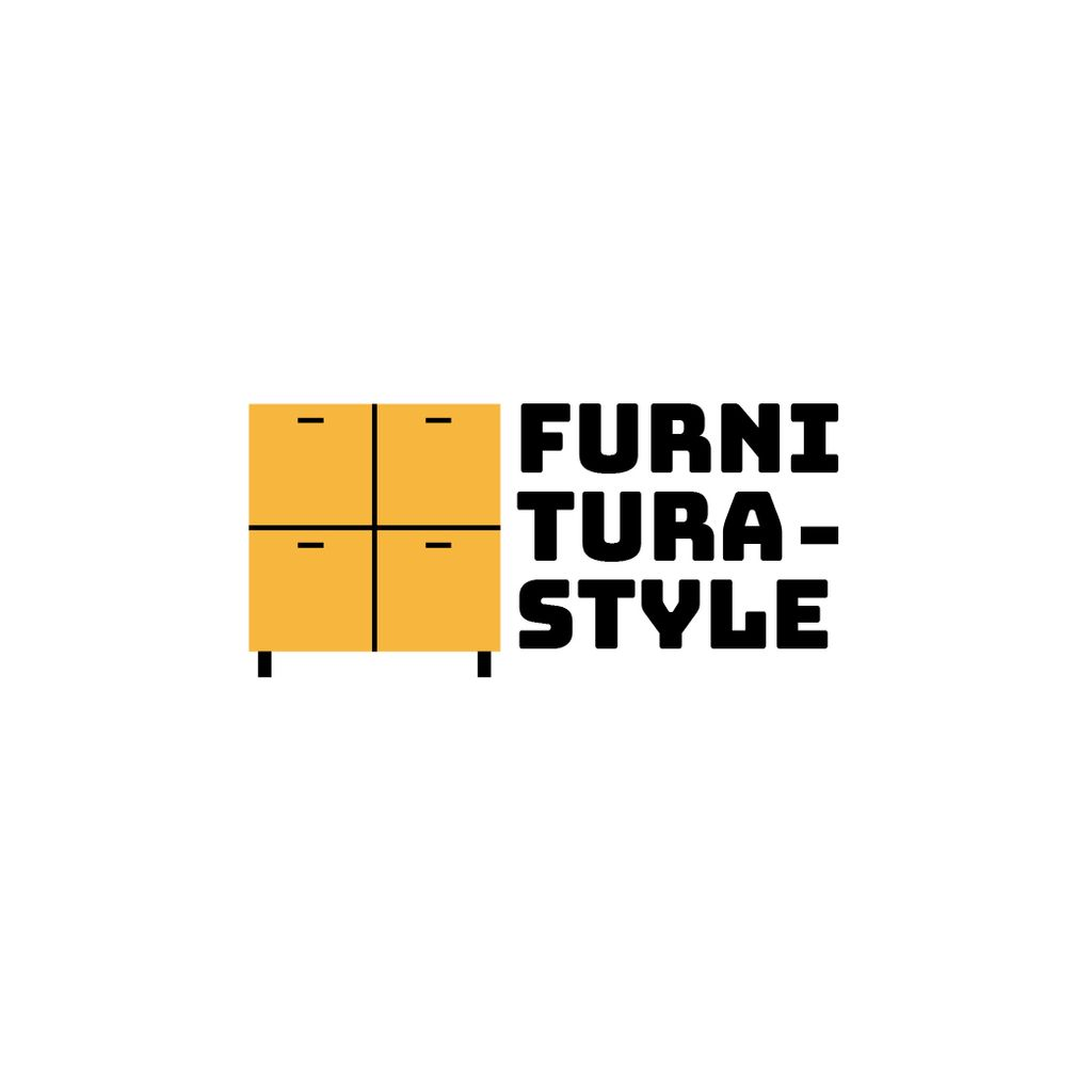 Furniture Ad with Cupboard in Yellow