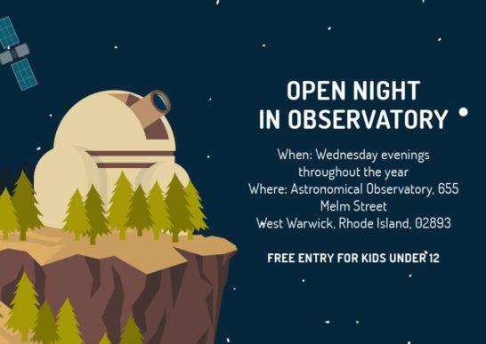 Open night in Observatory