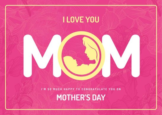Symbol of mother with baby on Mothers day