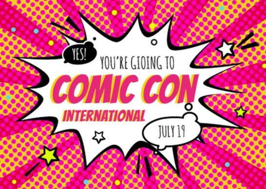 Comic Con Event Invitation