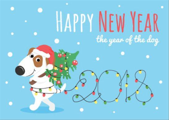 Happy New Year card