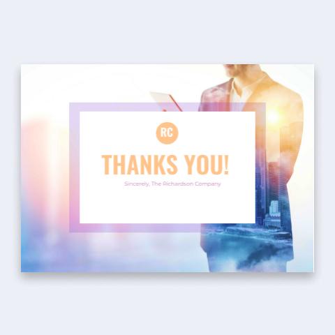 biglietti di ringraziamento