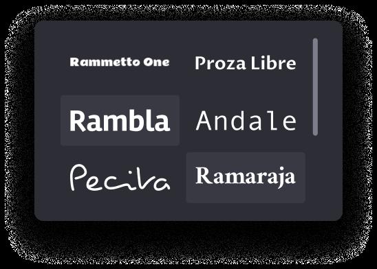 collectie lettertypestijlen