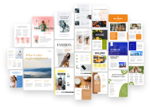 library of newsletter template