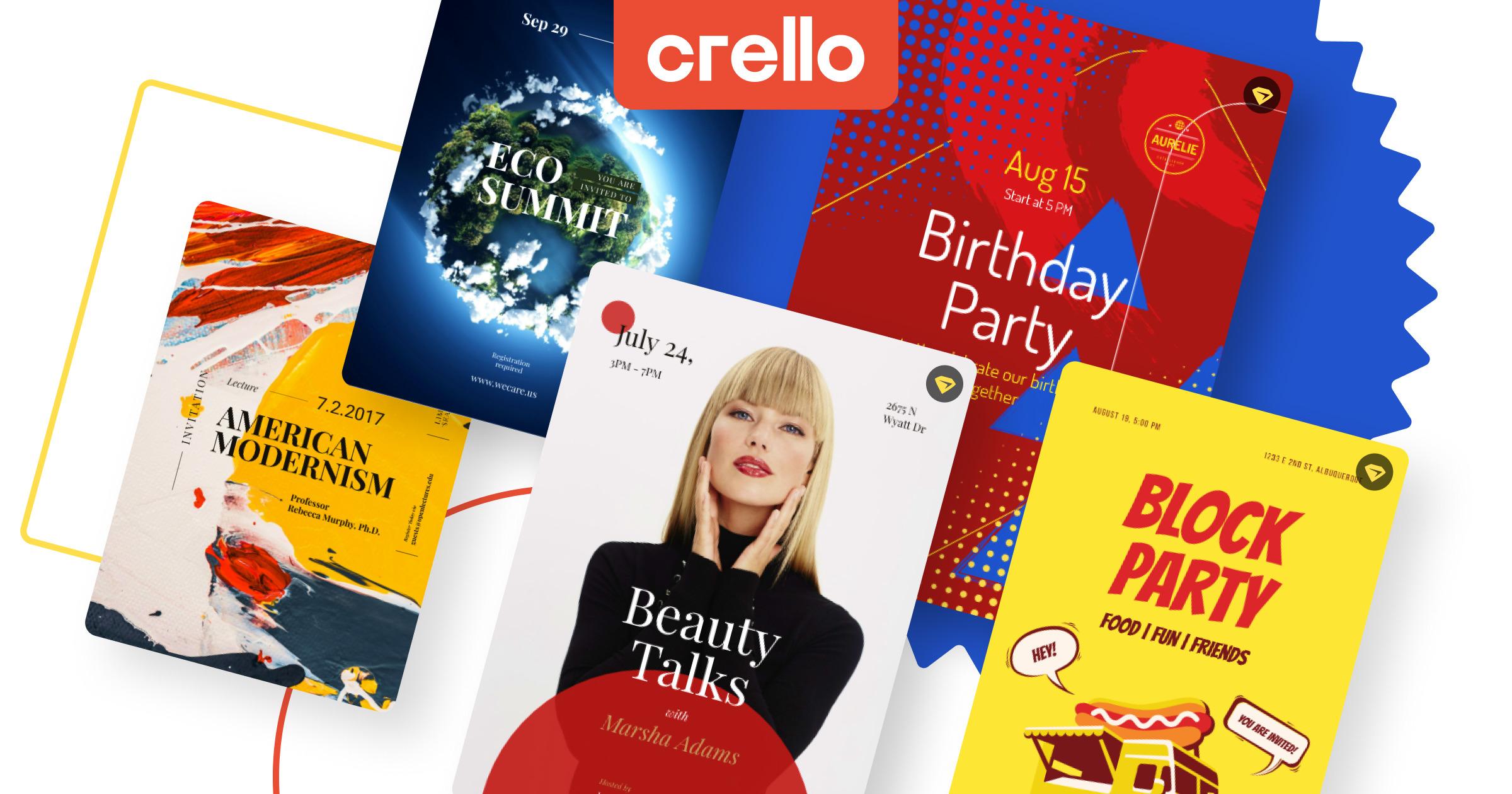 Createur D Invitations Gratuit En Ligne Modeles De Cartes D Invitation Crello