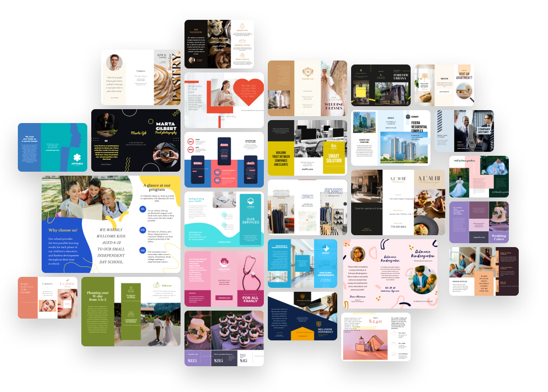 library of brochure templates