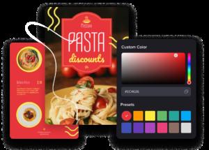 écran d'ajustement des couleurs