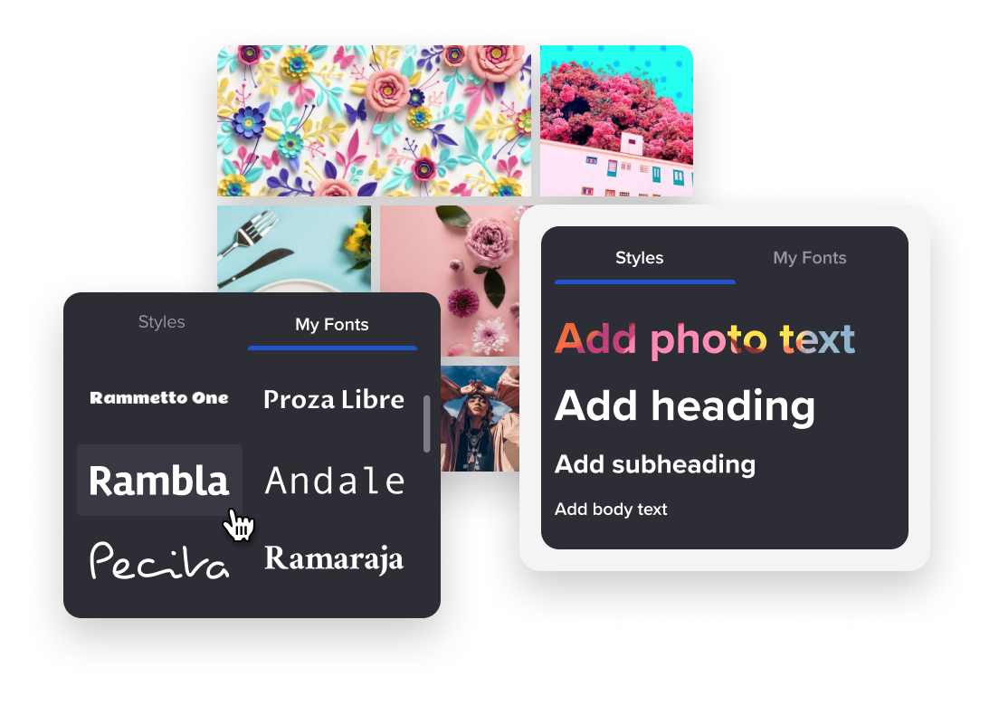 use cool fonts for your brochure