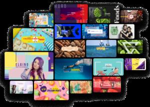 Crello´s Bibliothek von YouTube Kanalbilder