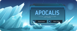 Game Stream Ad with Glaciers illustration