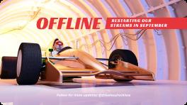 Racer on Modern Car in Tunnel