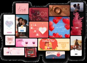 valentine day graphic templates